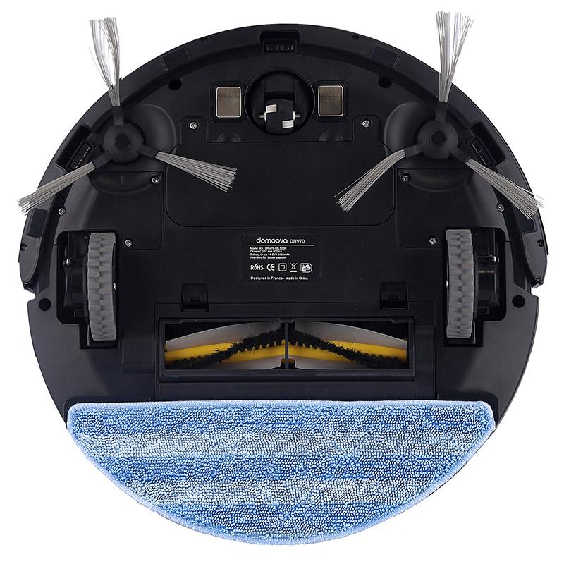 Robot aspirateur et laveur DOMOOVA DRV70 de dessous